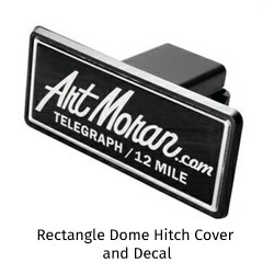 Rectangle Dome Hitch Cover and Decal